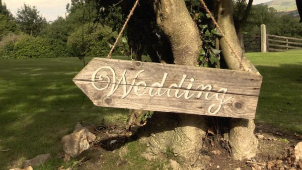 Rustic Hand-Painted Sign for Cormac and Gemma's MyDayMyWay wedding highlights. Ireland