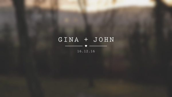 Minimal Opening Title - Gina and John's Wedding Video