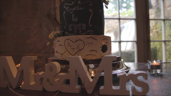 Rustic Wedding Cake and Signs - Keith and Audrey's Wedding