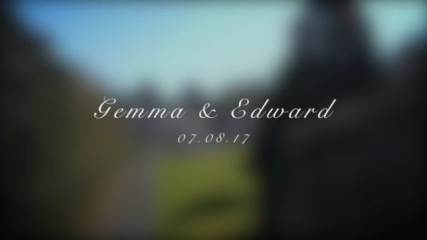 Title image for Gemma and Edwards Wedding Video
